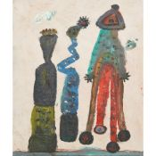 § ALAN DAVIE C.B.E., R.A., H.R.S.A. (BRITISH 1920-2014) BLUE ZIGGY AND FRIENDS, 2011