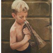 § GERARD M. BURNS (SCOTTISH 1961-) BOY WITH BUGLE