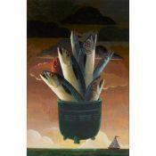 § FRANK DOCHERTY (SCOTTISH 1942-) A MING OF FISH