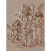 § PETER HOWSON O.B.E. (SCOTTISH 1958-) REDEMPTION, 2012