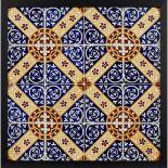 A.W.N. PUGIN (1812-1852) FOR MINTON & CO. SIXTEEN-TILE PANEL, CIRCA 1860