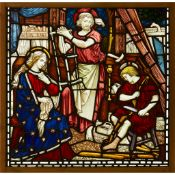 ENGLISH SCHOOL, ATTRIBUTED TO CLAYTON & BELL STAINED GLASS PANEL, CIRCA 1880