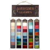 MARSDEN TILE COMPANY, BURSLEM TRADE SAMPLES FOR GLAZES, CIRCA 1900