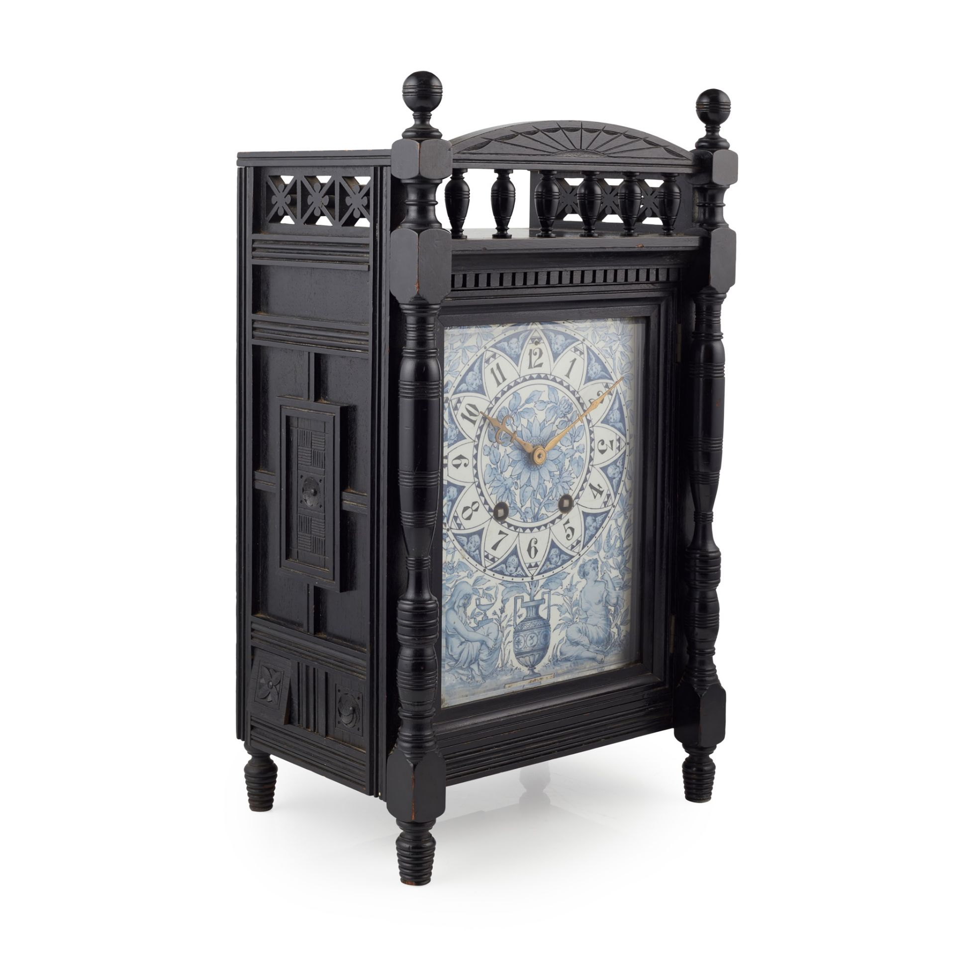 ATTRIBUTED TO LEWIS FOREMAN DAY FOR HOWELL, JAMES & CO., LONDON AESTHETIC MOVEMENT MANTEL CLOCK,
