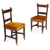 GEORGE EDMUND STREET (1824-1881) PAIR OF GOTHIC REVIVAL SIDE CHAIRS, CIRCA 1860