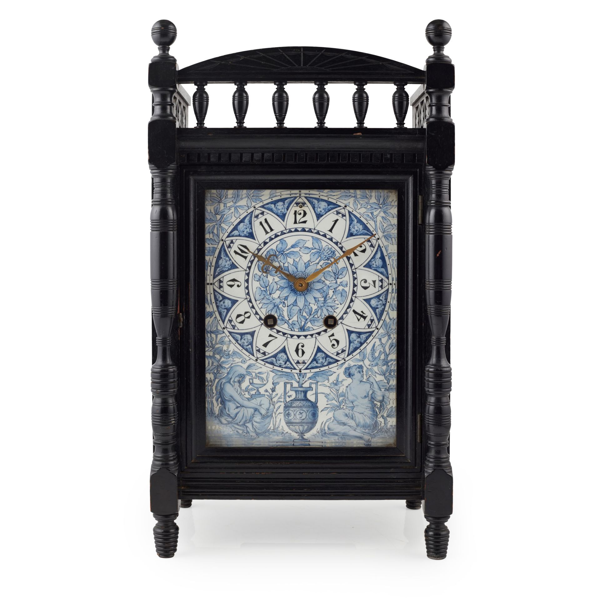 ATTRIBUTED TO LEWIS FOREMAN DAY FOR HOWELL, JAMES & CO., LONDON AESTHETIC MOVEMENT MANTEL CLOCK, - Image 2 of 2