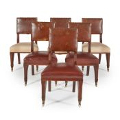 WILLIAM WHITE (1825–1900) SET OF EIGHT GOTHIC REVIVAL DINING CHAIRS, CIRCA 1860