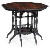 ATTRIBUTED TO JAMES LAMB, MANCHESTER AESTHETIC MOVEMENT CENTRE TABLE, CIRCA 1870
