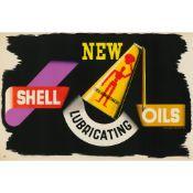 Edward McKnight Kauffer (1890-1954) Shell Lubricating- new oils