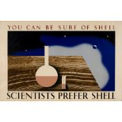 Tom Eckersley (1914-1997) and Eric Lombers (1914-1978) Scientists Prefer Shell