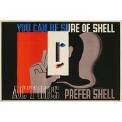 Edward McKnight Kauffer (1890-1954) Actors Prefer Shell