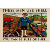 Derek Sayer (1917-1992) Fishermen use Shell