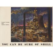 Terence Cuneo (1907-1996) Stanlow By Night
