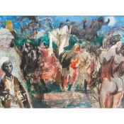 § FELIKS TOPOLSKI R.A. (POLISH 1907-1989) THE SONG OF AFRICA, INCLUDING KING FREDDIE, THE KABAKA OF