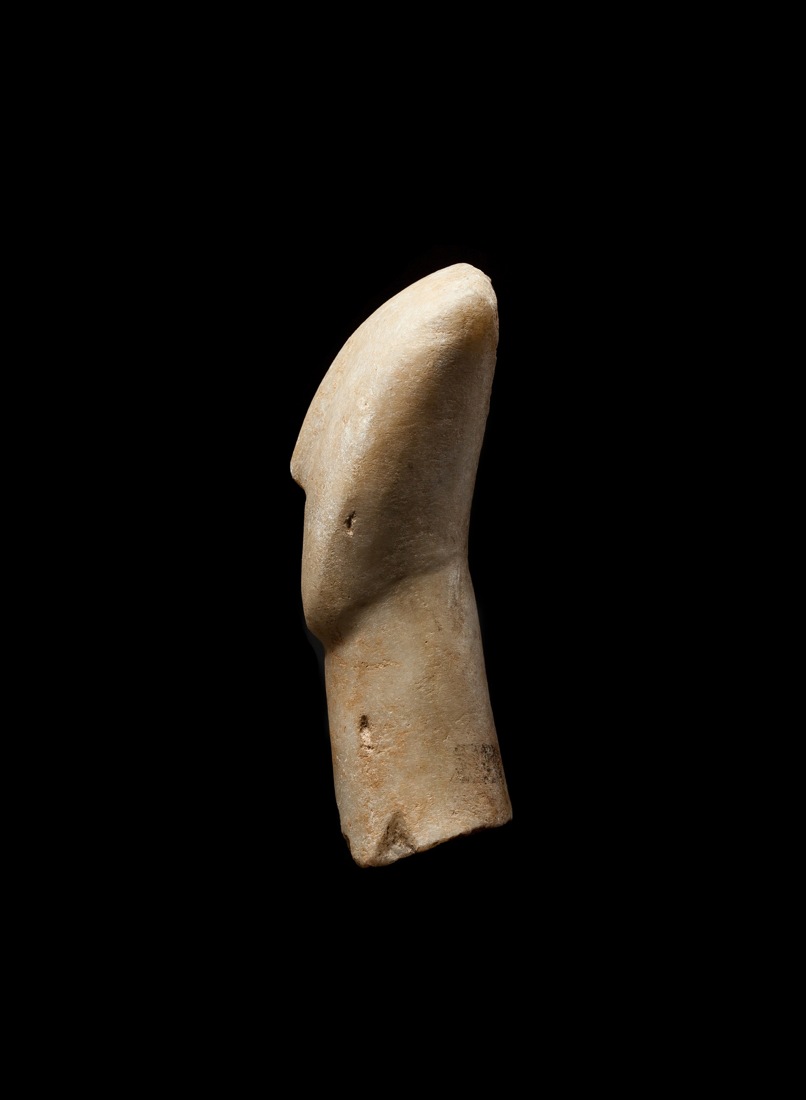 CYCLADIC IDOL HEAD CYCLADES, EARLY CYCLADIC II, C. 2600 - 2400 B.C. - Image 5 of 6