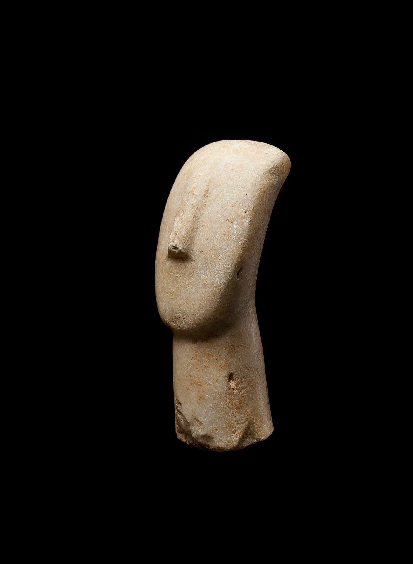 CYCLADIC IDOL HEAD CYCLADES, EARLY CYCLADIC II, C. 2600 - 2400 B.C. - Image 6 of 6