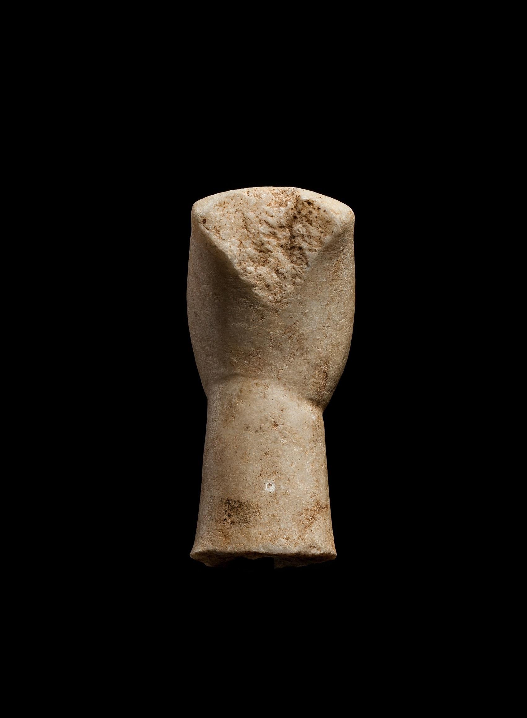 CYCLADIC IDOL HEAD CYCLADES, EARLY CYCLADIC II, C. 2600 - 2400 B.C. - Image 4 of 6