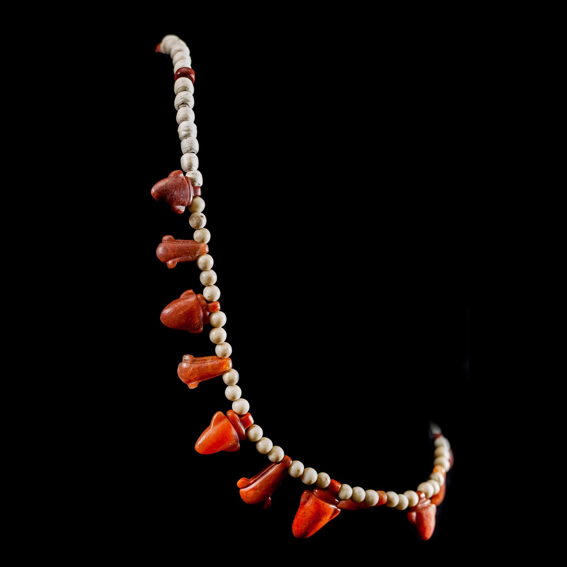ANCIENT EGYPTIAN JASPER NECKLACE EGYPT, LATE PERIOD, 664 - 323 B.C. - Image 2 of 2