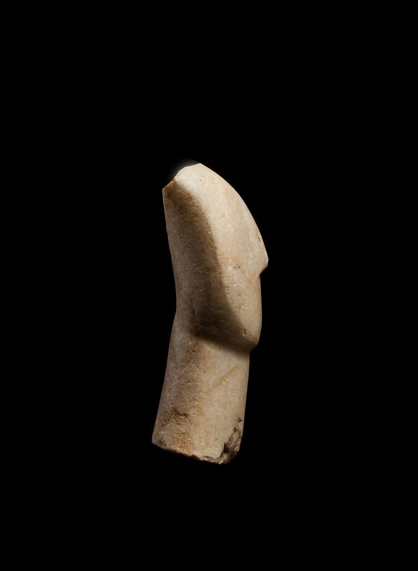 CYCLADIC IDOL HEAD CYCLADES, EARLY CYCLADIC II, C. 2600 - 2400 B.C. - Image 3 of 6