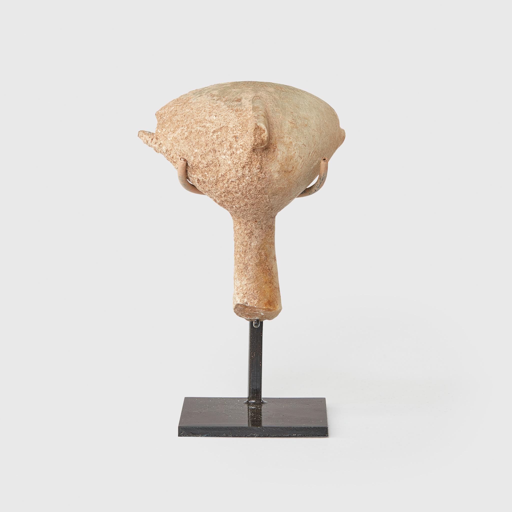 """KILIA """"STARGAZER"""" HEAD ANATOLIA, BRONZE AGE II c. 2700 - 2500 B.C. - Image 2 of 2"""