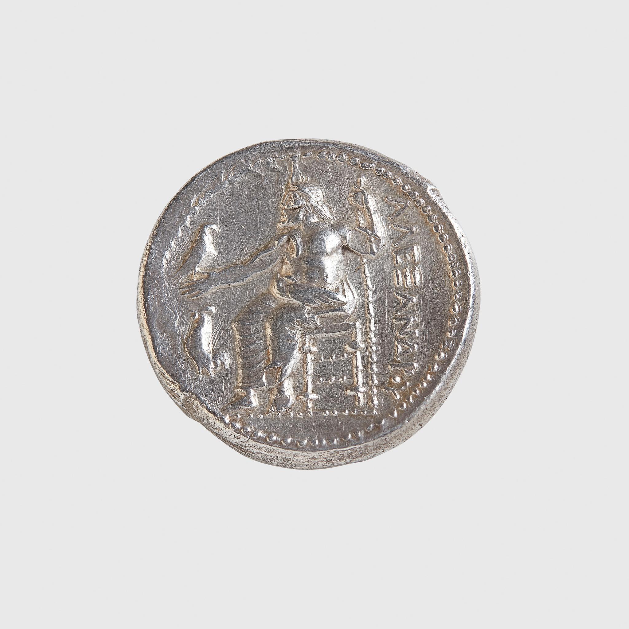 ALEXANDER THE GREAT SILVER TETRADRACHM GREECE, AMPHIPOLIS MINT, 325 - 323 B.C. - Image 2 of 2