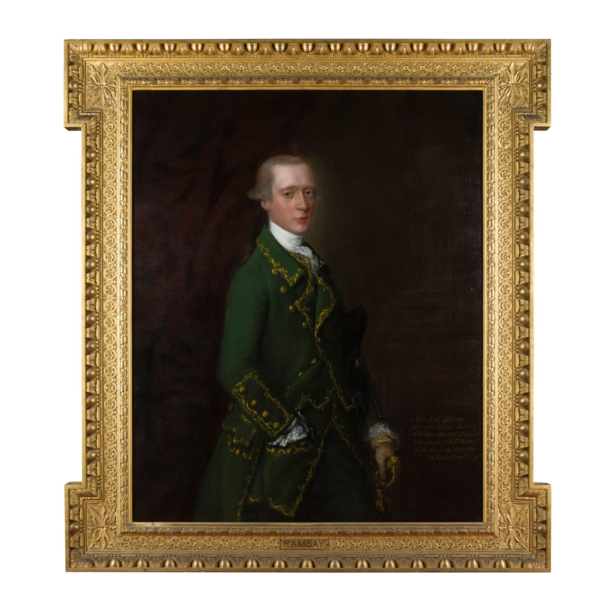 ◆ THOMAS GAINSBOROUGH R.A. (BRITISH 1717-1788) HALF-LENGTH PORTRAIT OF JOHN CAMPBELL, VISCOUNT - Image 2 of 2