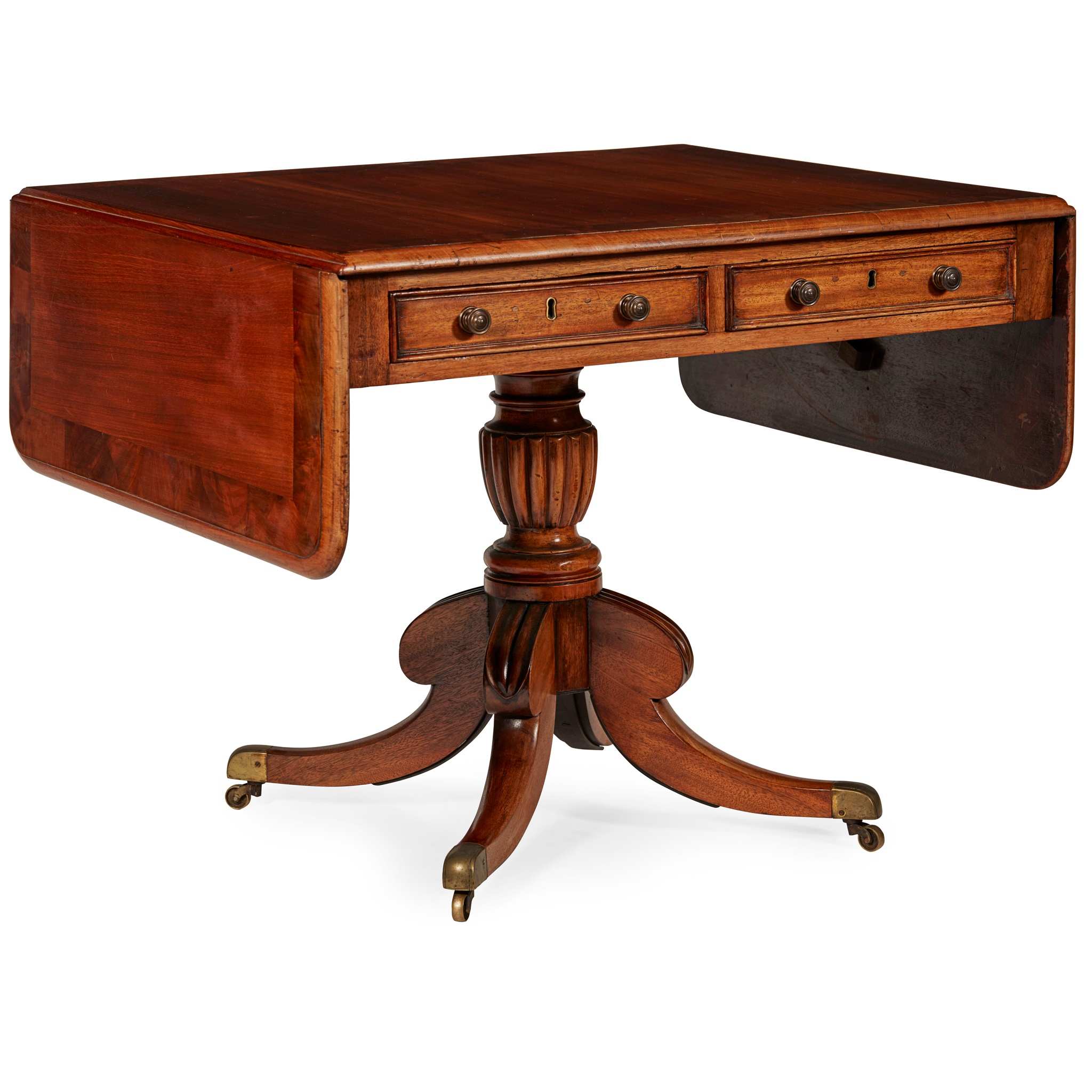 REGENCY MAHOGANY SOFA TABLE 19TH CENTURY