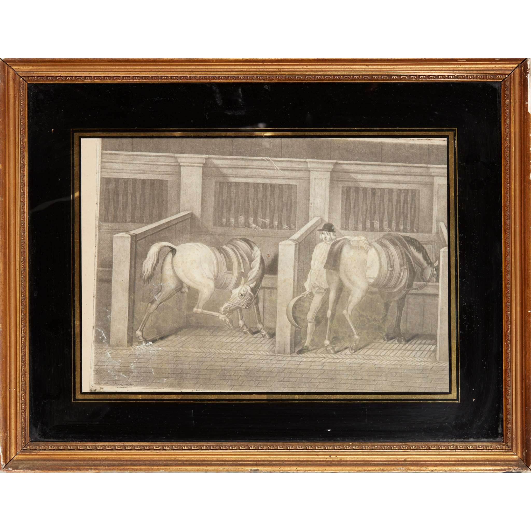 COLLECTION OF ELEVEN MEZZOTINT EQUESTRIAN PRINTS LATE 18TH CENTURY - Image 6 of 8