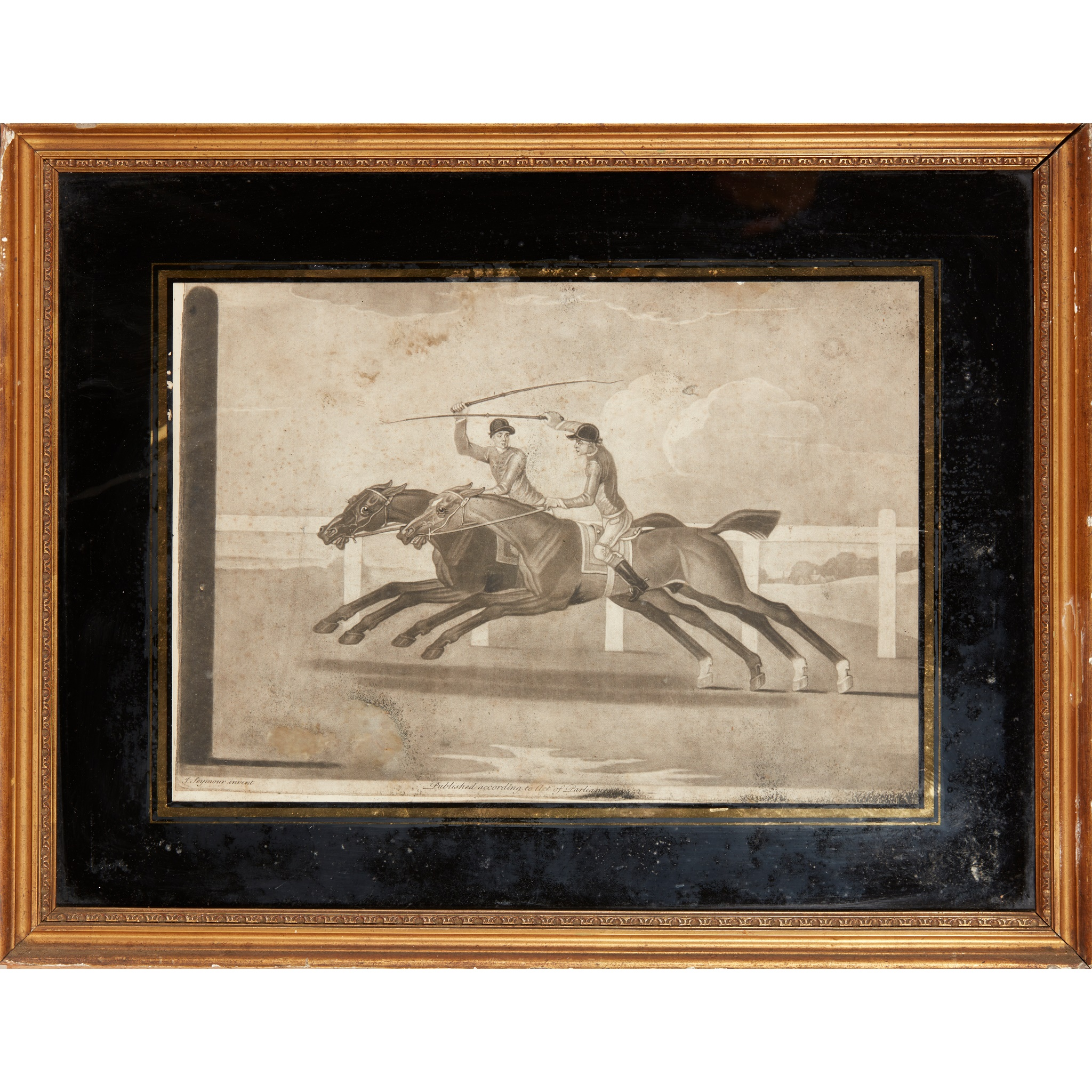 COLLECTION OF ELEVEN MEZZOTINT EQUESTRIAN PRINTS LATE 18TH CENTURY - Image 7 of 8