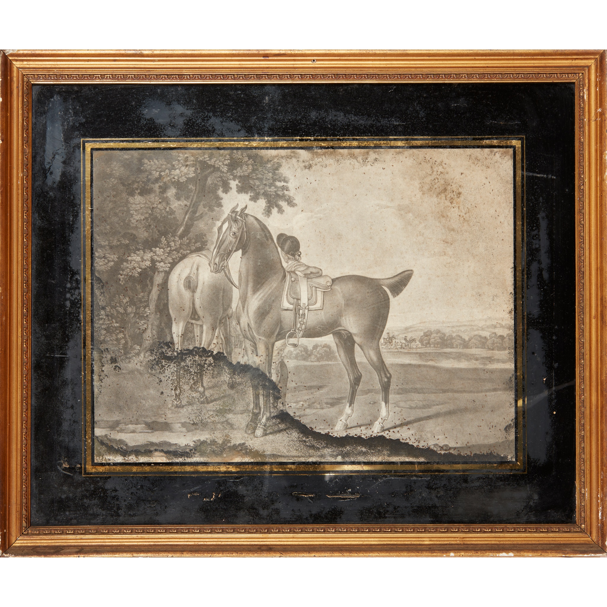 COLLECTION OF ELEVEN MEZZOTINT EQUESTRIAN PRINTS LATE 18TH CENTURY - Image 4 of 8
