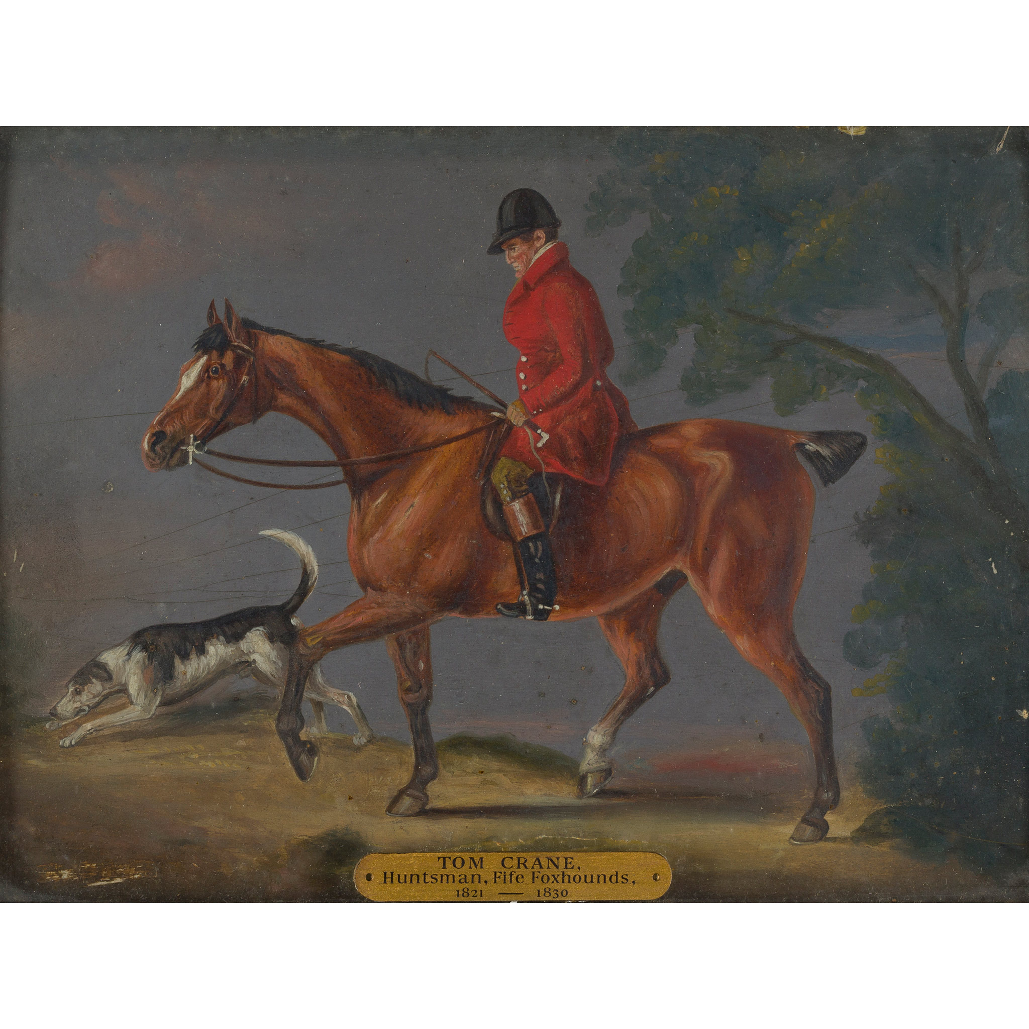 ATTRIBUTED TO JOHN ARNOLD WHEELER TOM CRANE, HUNTSMAN OF THE FIFE FOXHOUNDS, ON HIS CHESTNUT COB