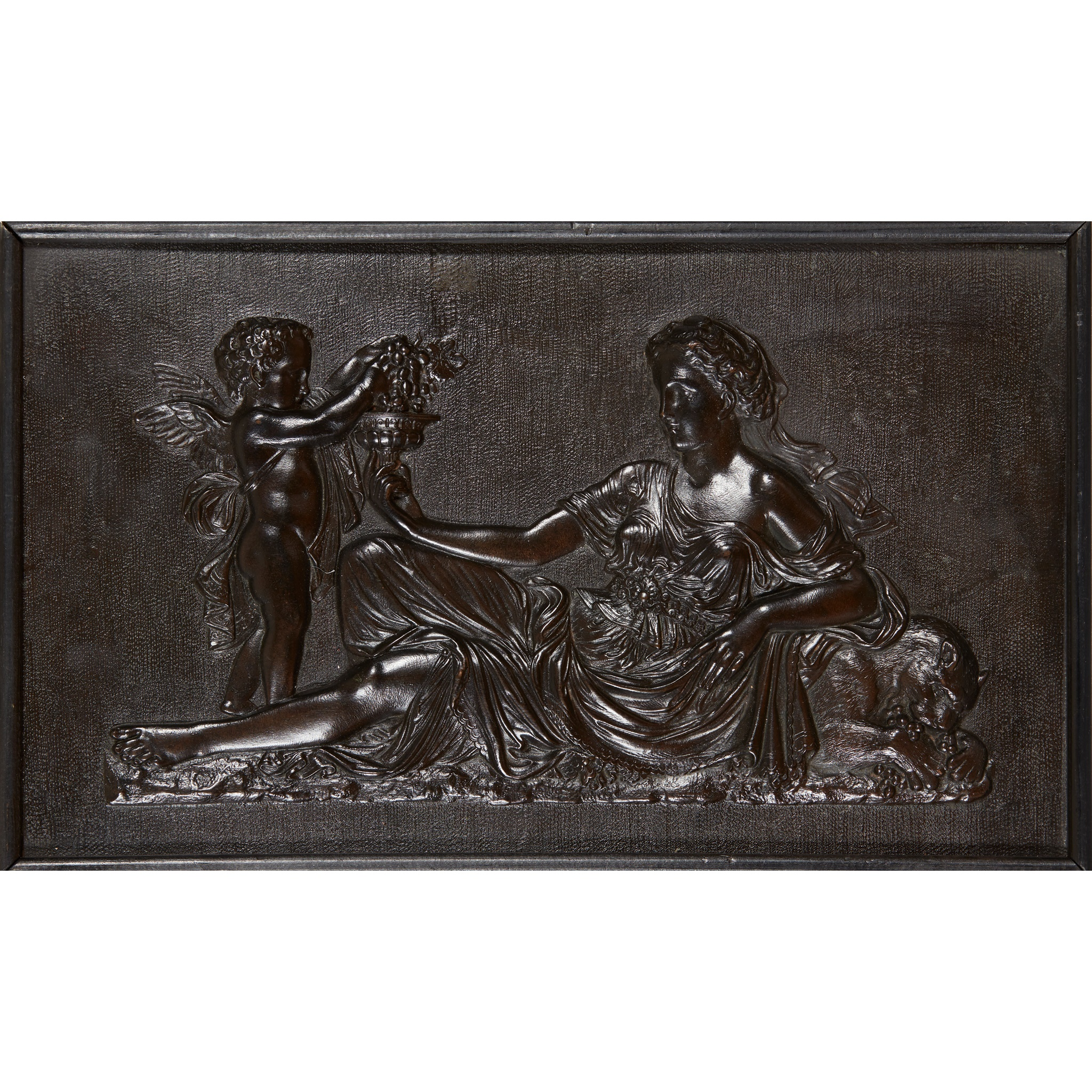PAIR OF CLASSICAL BRONZE RELIEF PLAQUES LATE 19TH/ EARLY 20TH CENTURY - Image 2 of 2
