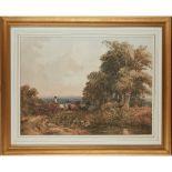 DAVID COX (BRITISH 1783-1859) THE TIMBER WAGON