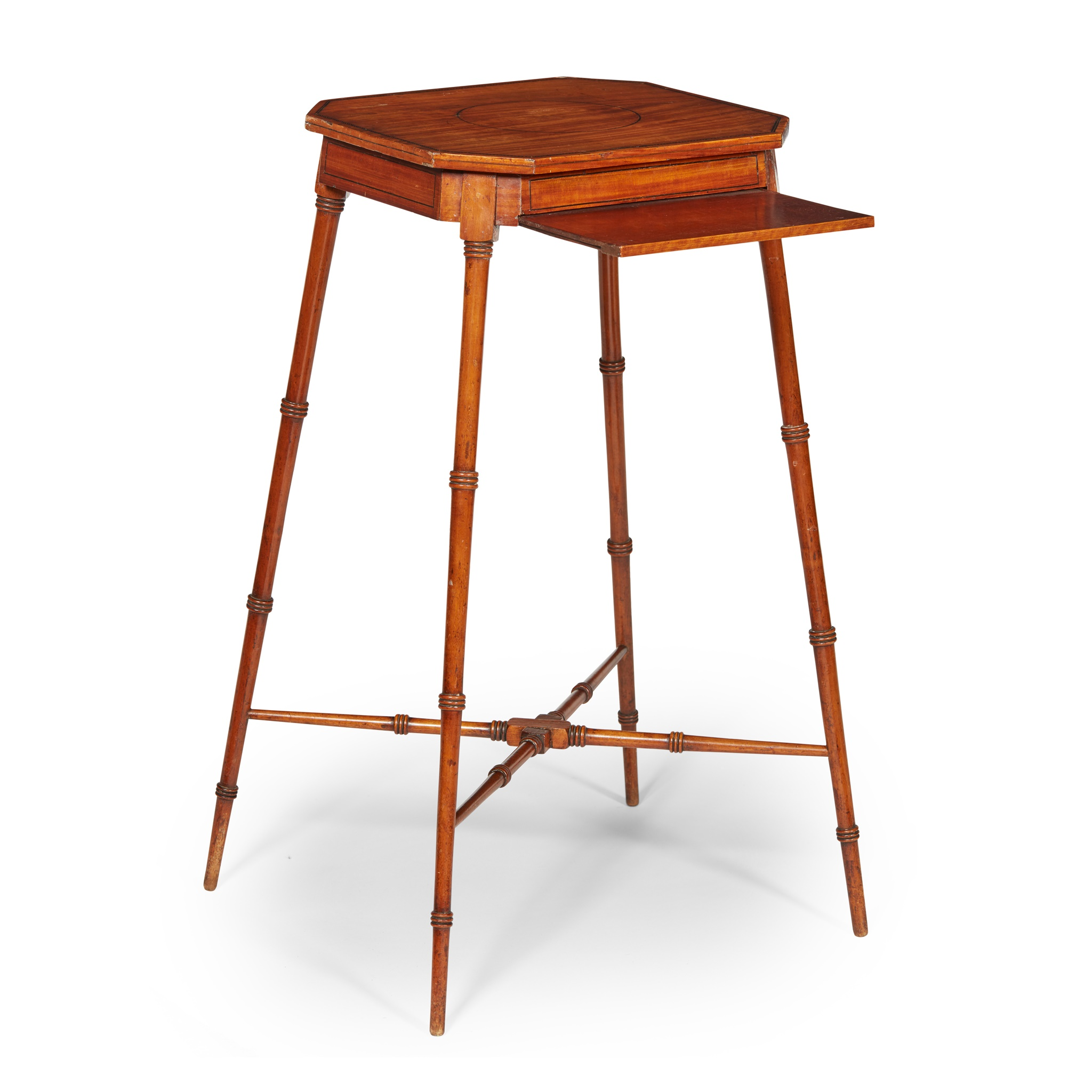 GEORGIAN STYLE SATINWOOD URN STAND 19TH CENTURY - Image 2 of 2