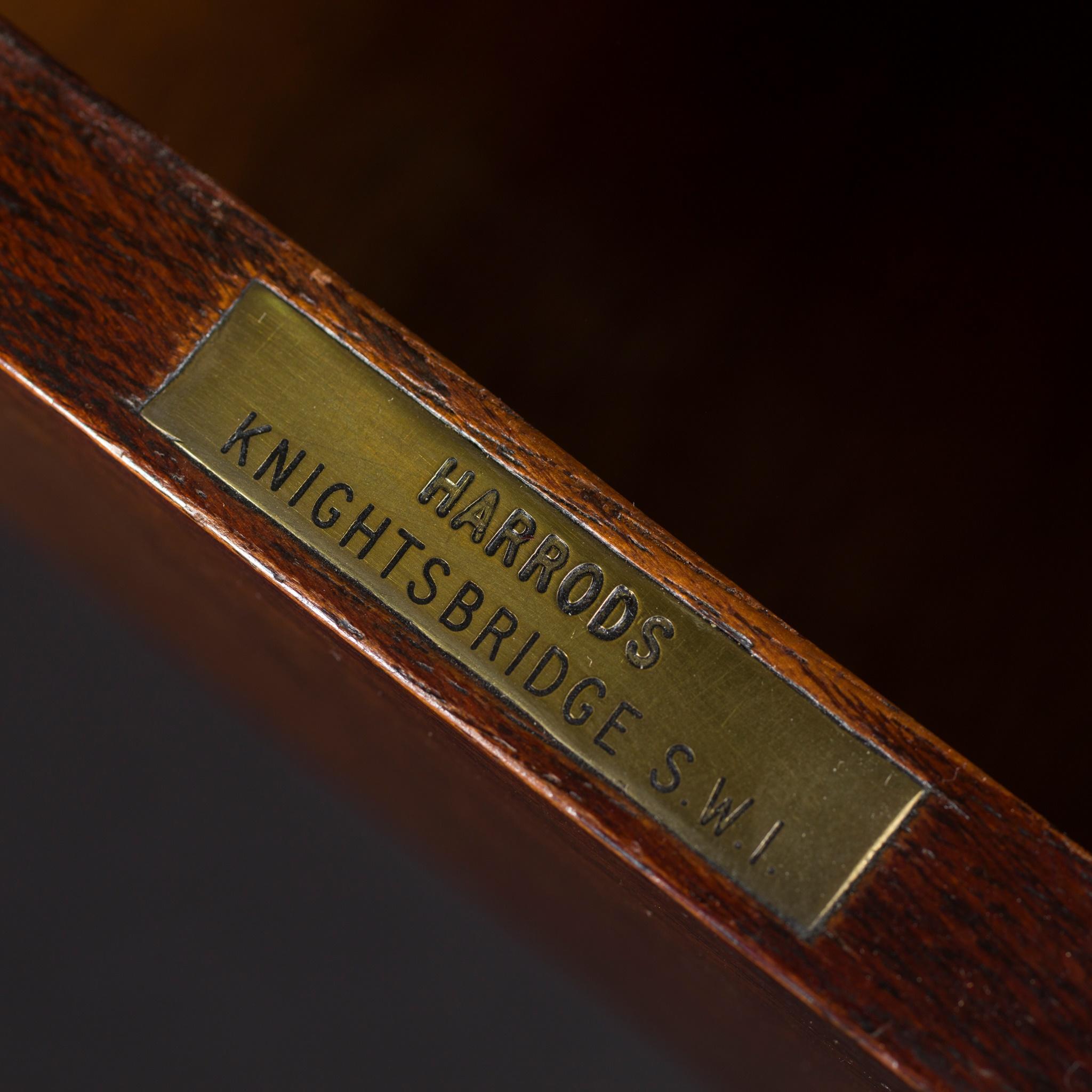 PAIR OF GEORGIAN STYLE MAHOGANY, EBONISED, AND SATINWOOD PEMBROKE TABLES 20TH CENTURY - Image 2 of 2