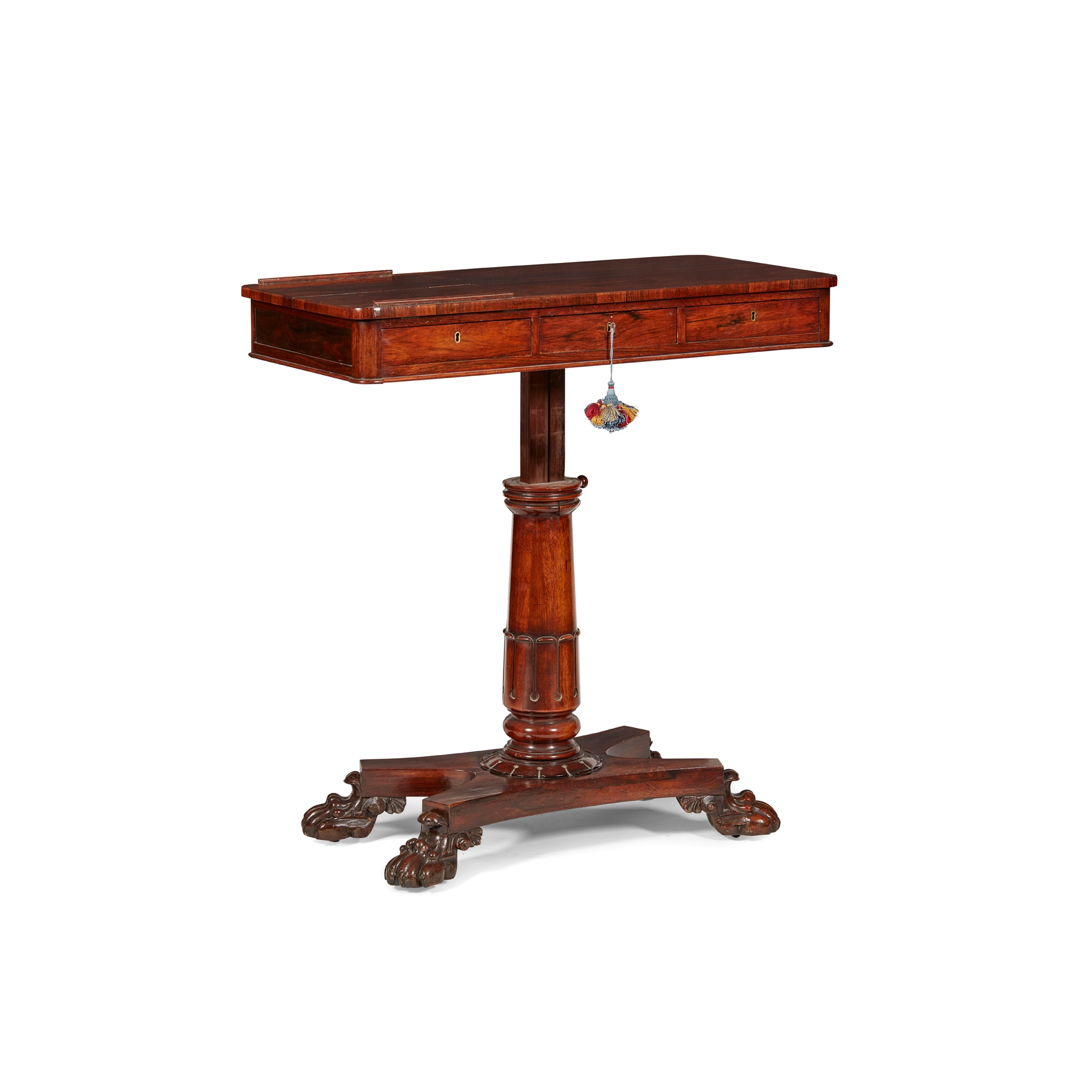 Y GEORGE IV ROSEWOOD READING TABLE EARLY 19TH CENTURY - Image 3 of 4