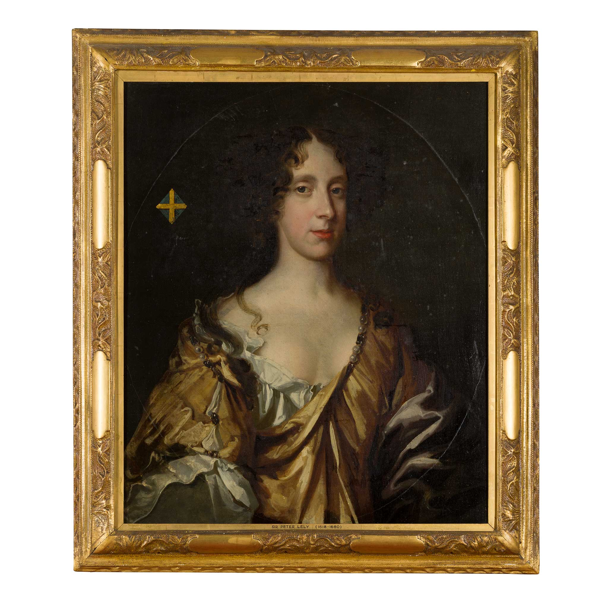 FOLLOWER OF SIR PETER LELY HALF LENGTH PORTRAIT OF THE DUCHESS OF CLEVELAND - Image 2 of 2