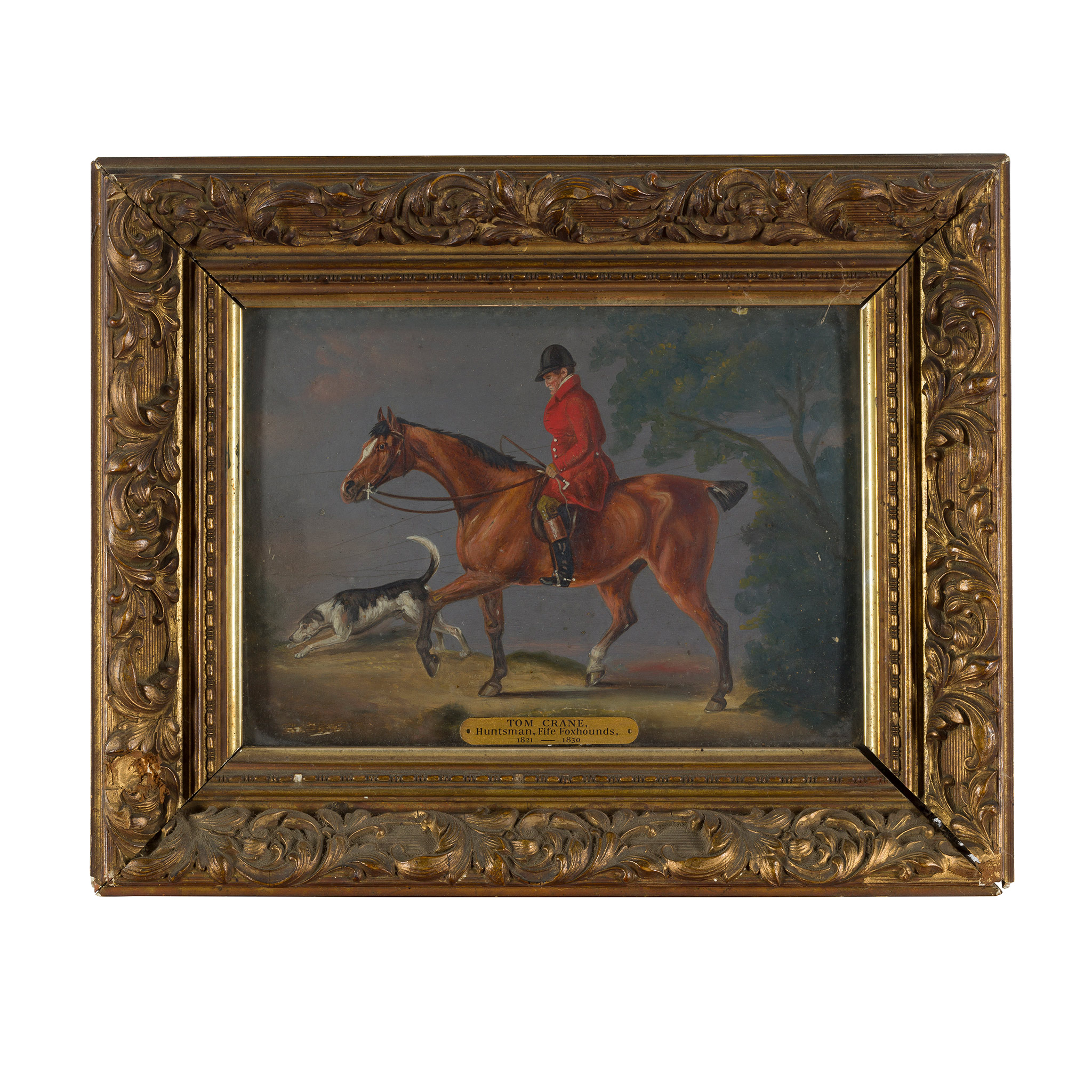 ATTRIBUTED TO JOHN ARNOLD WHEELER TOM CRANE, HUNTSMAN OF THE FIFE FOXHOUNDS, ON HIS CHESTNUT COB - Image 2 of 2
