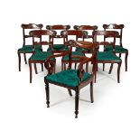 ASSEMBLED SET OF EIGHT REGENCY MAHOGANY DINING CHAIRS EARLY 19TH CENTURY
