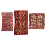 THREE ERSARI JUVALS TURKMENISTAN, LATE 19TH/EARLY 20TH CENTURY