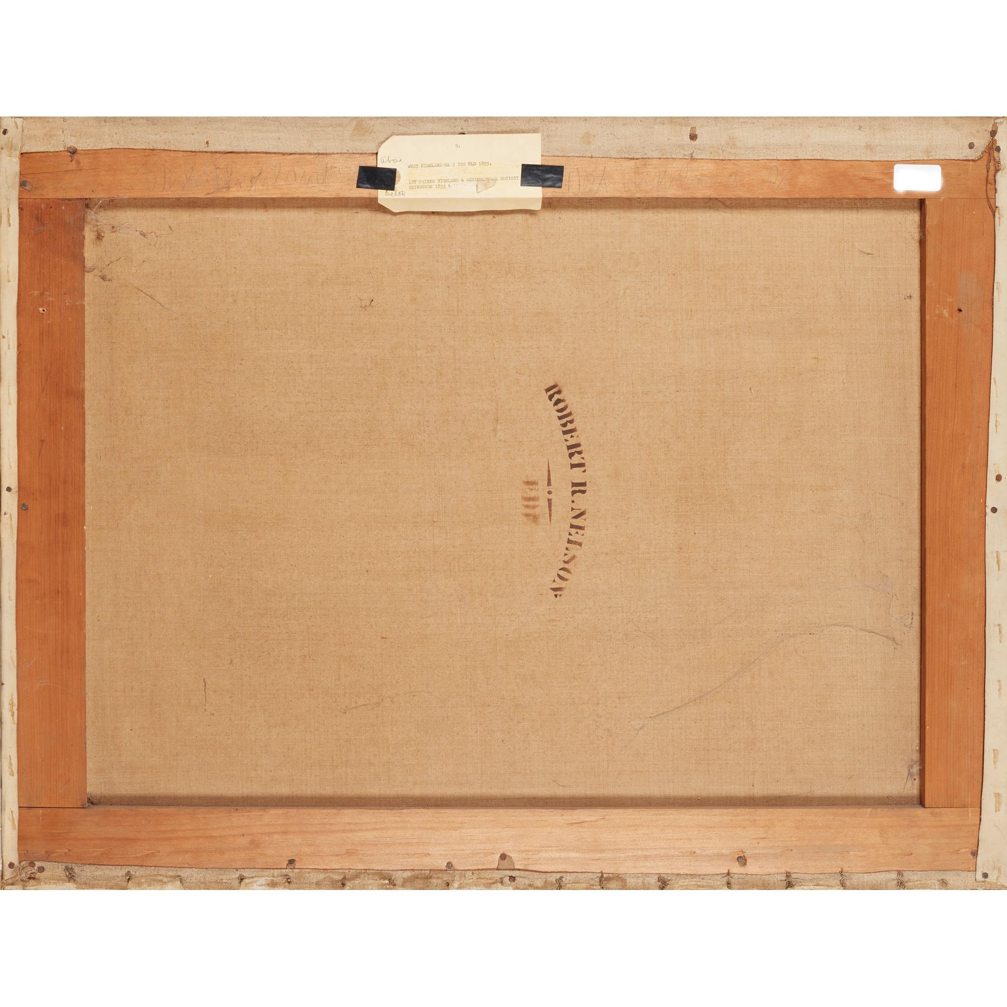 JOHN MCLEOD (SCOTTISH FL.1846-1872) STUDY OF A WEST HIGHLAND OX AGED 5 YEARS - Image 2 of 2