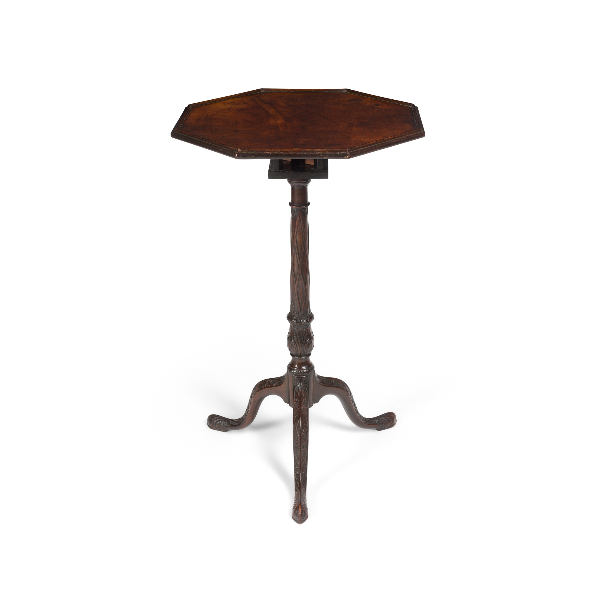 EARLY GEORGE III MAHOGANY OCTAGONAL BIRDCAGE TRIPOD TABLE 18TH CENTURY - Image 2 of 2