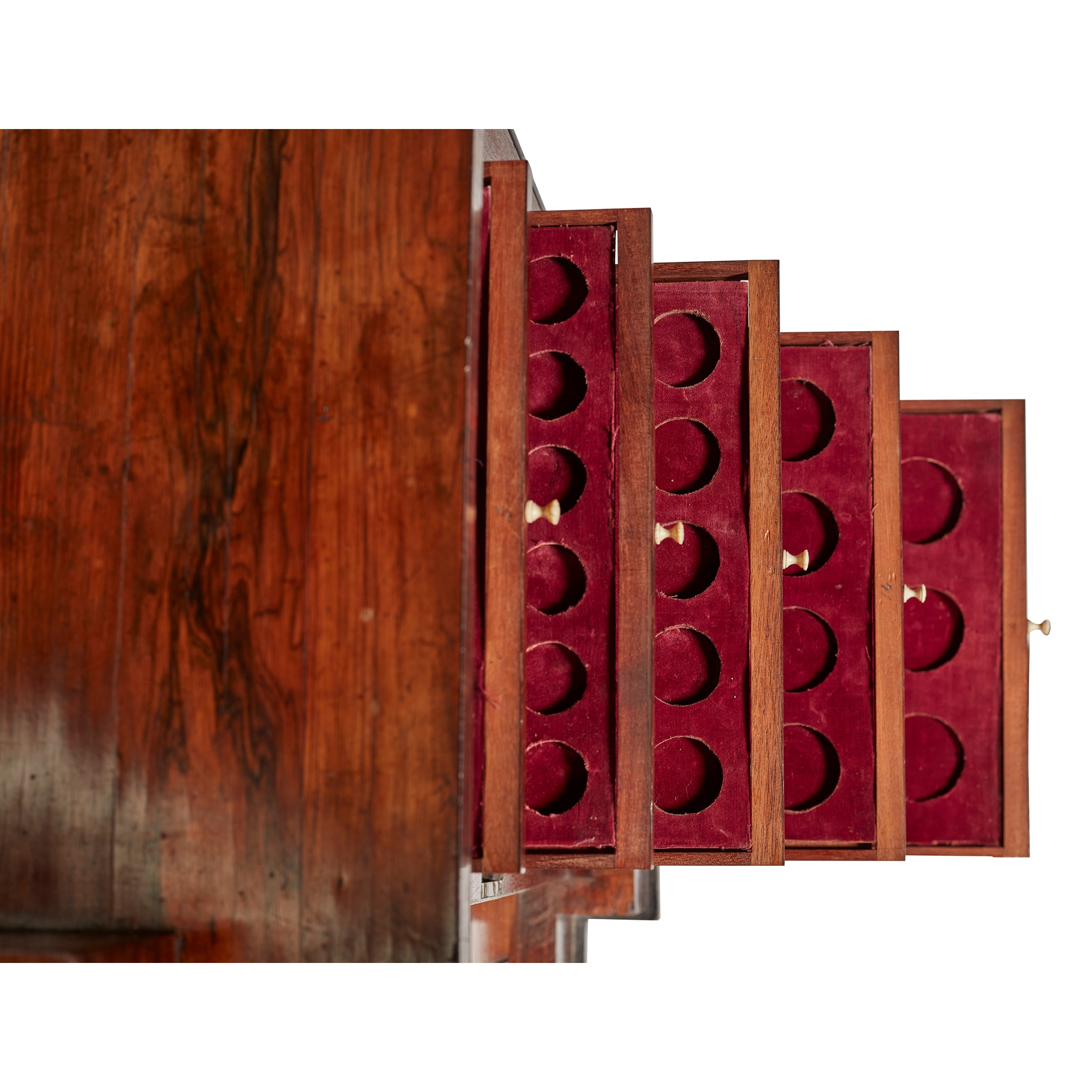 Y GEORGE IV ROSEWOOD AND BRASS INLAID COLLECTOR'S CABINET, IN THE MANNER OF GEORGE BULLOCK EARLY - Image 3 of 3