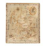 SCOTTISH NEEDLEWORK MAP SAMPLER LATE 18TH/ EARLY 19TH CENTURY