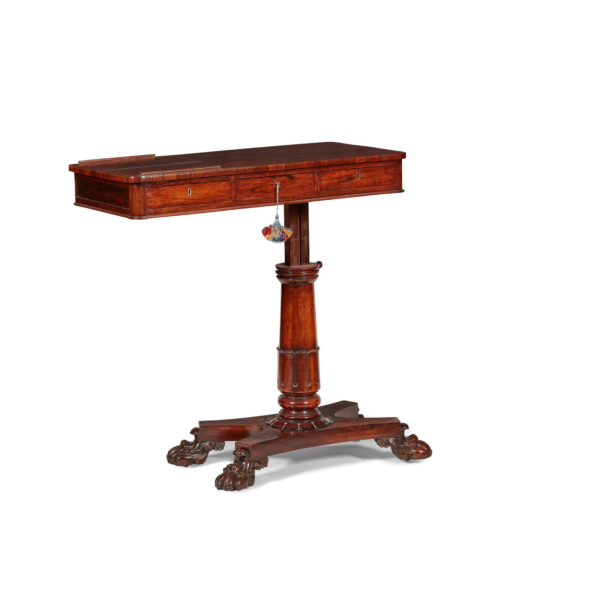 Y GEORGE IV ROSEWOOD READING TABLE EARLY 19TH CENTURY - Image 4 of 4
