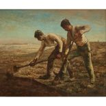 CIRCLE OF JEAN FRANCOIS MILLET THE DIGGERS