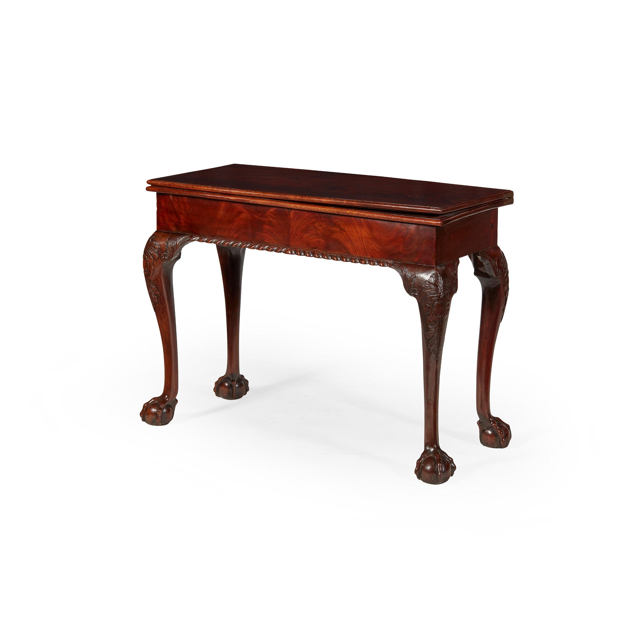 EARLY GEORGE III MAHOGANY TEA TABLE MID 18TH CENTURY