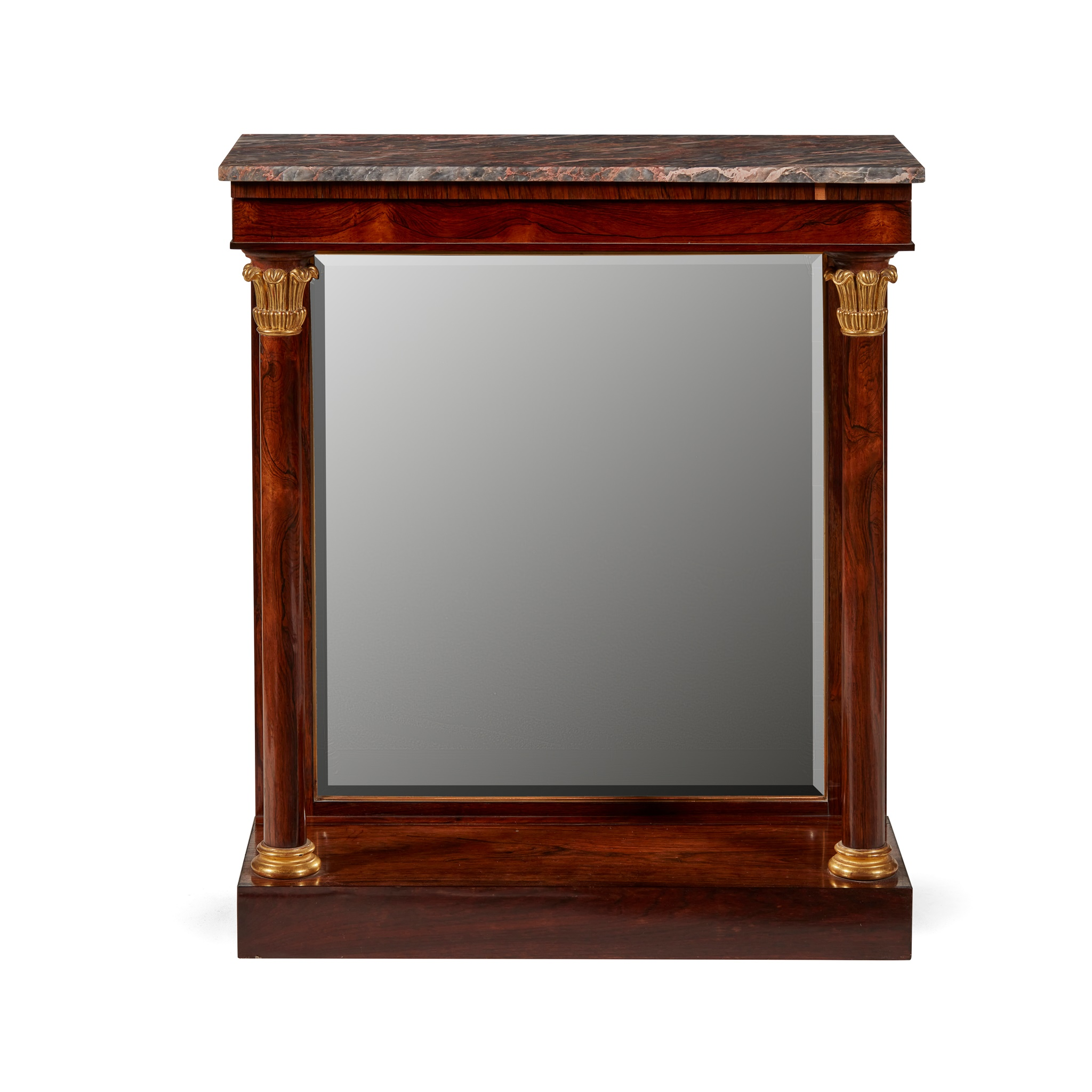 Y REGENCY ROSEWOOD AND PARCEL GILT CONSOLE TABLE EARLY 19TH CENTURY - Image 2 of 2