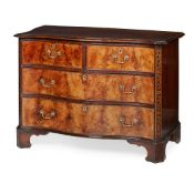 GEORGE III STYLE MAHOGANY SERPENTINE COMMODE EARLY 20TH CENTURY