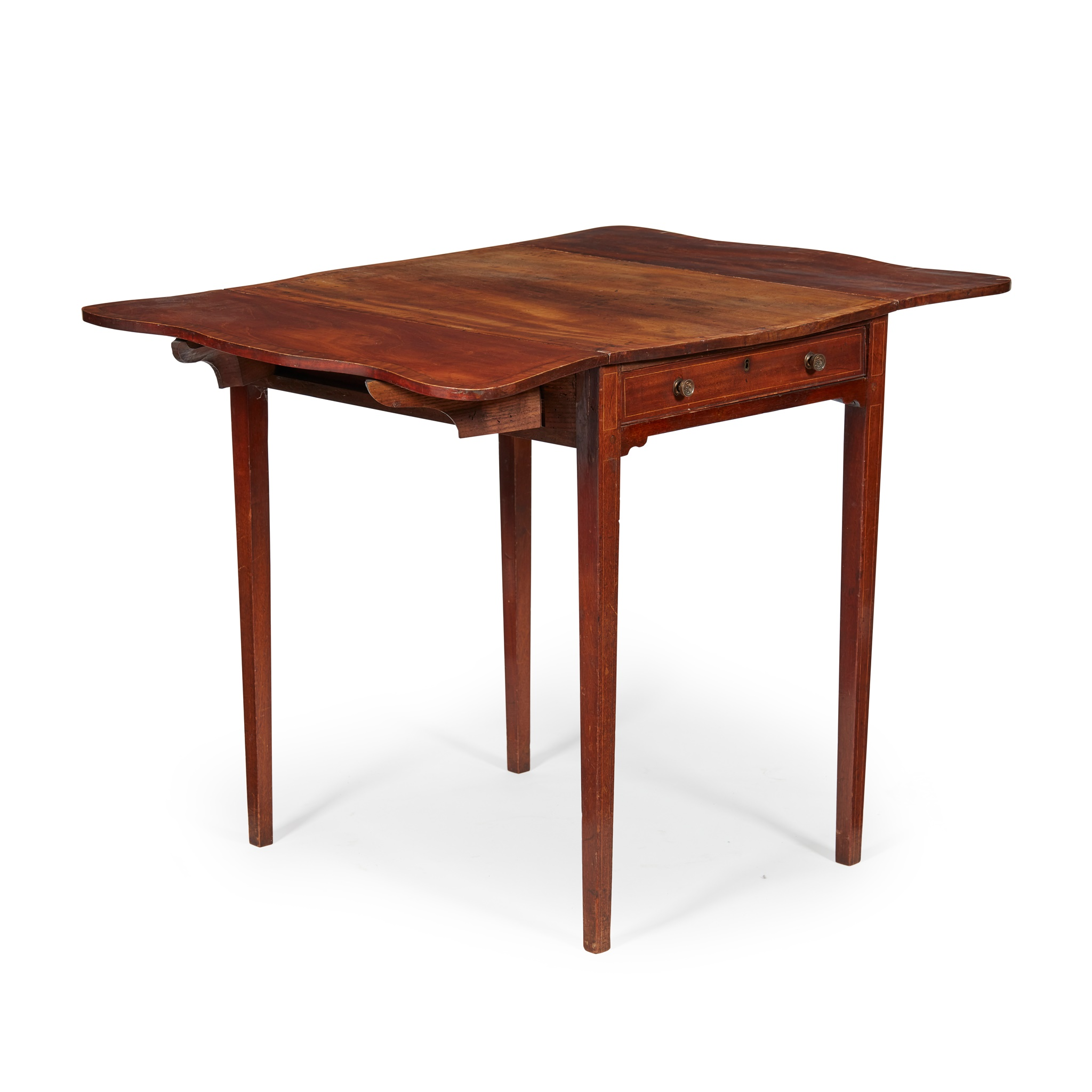 GEORGE II MAHOGANY AND SATINWOOD PEMBROKE TABLE LATE 18TH CENTURY - Image 2 of 2